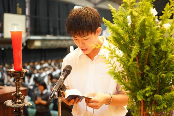 始業日 全校礼拝